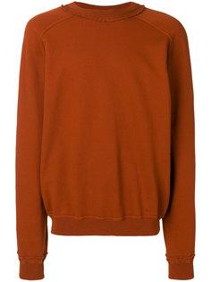 свитер с потертой отделкой Haider Ackermann