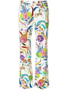 укороченные джинсы с цветочным принтом Etro