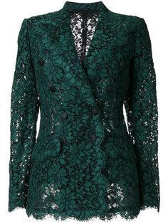 двубортный кружевной пиджак Dolce & Gabbana