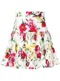 мини-юбка с принтом роз Dolce & Gabbana