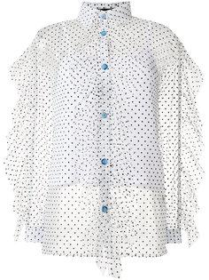 прозрачная рубашка в горох House Of Holland