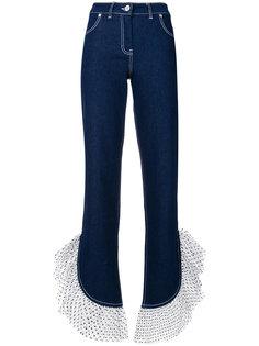 джинсы в горох с оборками House Of Holland