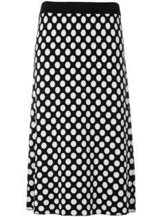 трикотажная юбка в горох  House Of Holland