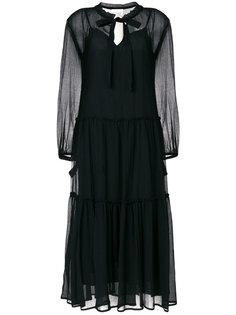 прозрачное платье миди  See By Chloé