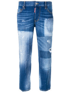 состаренные джинсы бойфренда Dsquared2