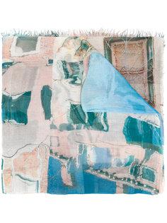 шарф с абстрктным принтом  Faliero Sarti
