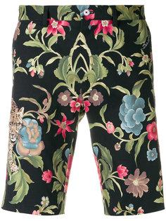 бермуды с принтом леопардов Dolce & Gabbana