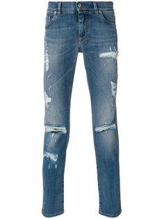 джинсы с потертой отделкой Dolce & Gabbana