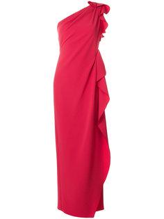 платье на одно плечо с оборкой  Max Mara