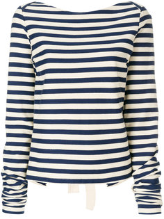 полосатая блузка с завязами  Erika Cavallini