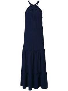длинное платье  с присборенной горловиной Erika Cavallini