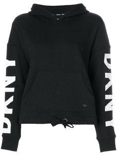 толстовка с капюшоном и логотипом  DKNY