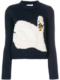 трикотажный свитер с узором интарсия  JW Anderson