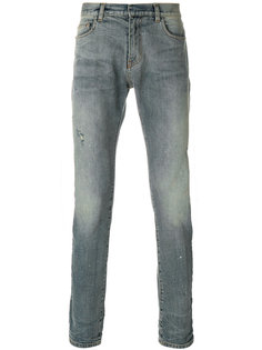 джинсы узкого кроя с эффектом потертости Faith Connexion