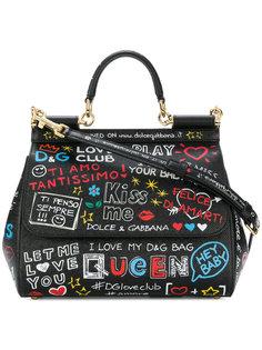 сумка-тоут Sicily с принтом Dolce & Gabbana