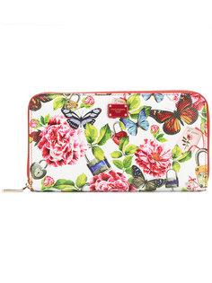 кошелек на молнии с принтом Natural life Dolce & Gabbana