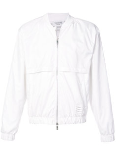 signature stripe bomber jacket Thom Browne