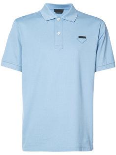 рубашка-поло с фирменной нашивкой Prada