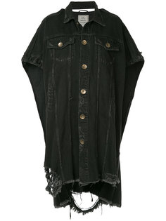 свободное состаренное платье-рубашка  Maison Mihara Yasuhiro