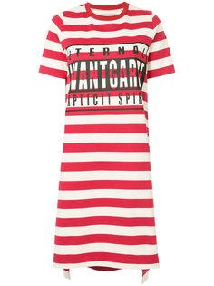 платье-футболка в полоску  Maison Mihara Yasuhiro