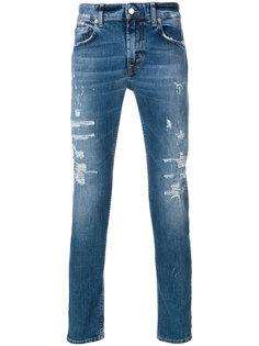 джинсы с потертой отделкой Department 5