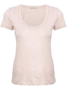 классическая футболка с вырезом-ковш  Moncler