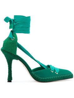 туфли на каблуках Manolo X Castaner