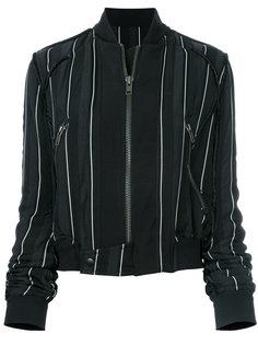 полосатая куртка-бомбер Haider Ackermann
