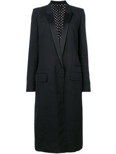 длинное пальто с заостренными лацканами  Haider Ackermann