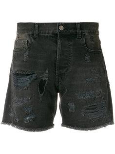 джинсовые шорты с потертой отделкой Faith Connexion