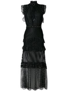 платье с рюшами и люверсами Just Cavalli