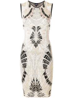 платье с симметричным принтом Just Cavalli