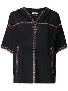 блузка с вышивкой и капюшоном  Isabel Marant Étoile
