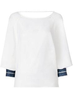 блузка с контрастными манжетами  Zeus+Dione
