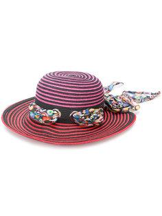 солнцезащитная шляпа в полоску с лентой Missoni