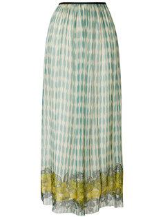 расклешенная юбка-миди с принтом Forte Forte