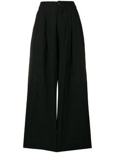 однотонные брюки-палаццо  Uma Wang