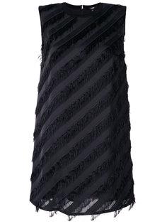 платье шифт  с бахромой Versus