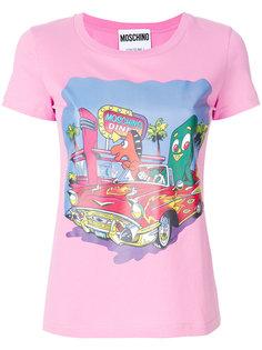 футболка с принтом Diner Moschino