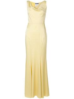 вечернее платье с воротником-хомут Moschino