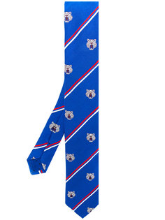 полосатый галстук с принтом тигров Kenzo