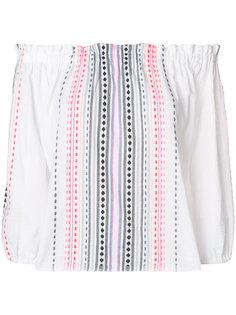 блузка в полоску с открытыми плечами  Lemlem