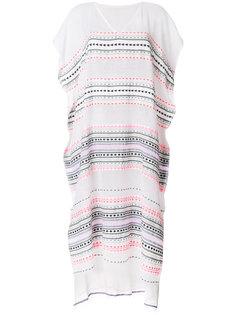 платье в полоску с V-образным вырезом  Lemlem