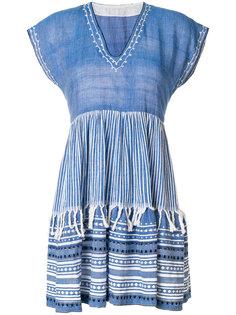 платье с вышивкой и V-образным вырезом  Lemlem