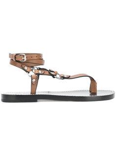 сандалии с ремешками с заклепками Isabel Marant