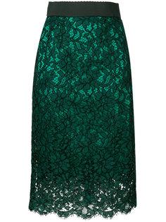 кружевная прямая юбка  Dolce & Gabbana