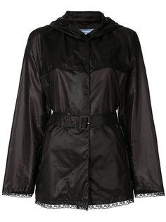 куртка с запахом и поясом  Prada