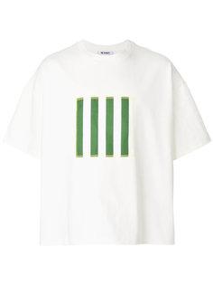 футболка с полосатым принтом Sunnei