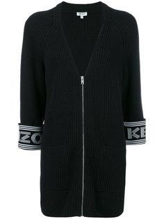 вязаное пальто-кардиган с логотипом на манжетах Kenzo