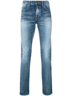 классические джинсы узкого кроя Saint Laurent